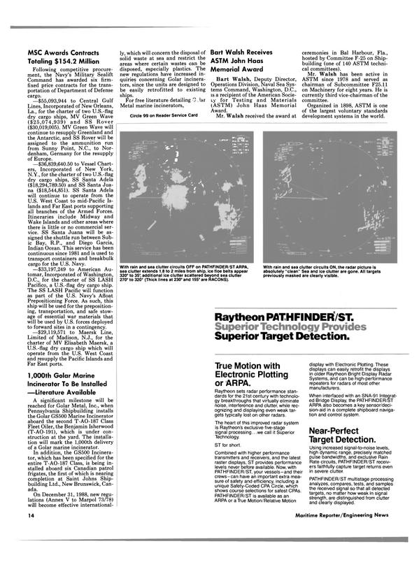 Maritime Reporter Magazine, page 12,  Jun 1988