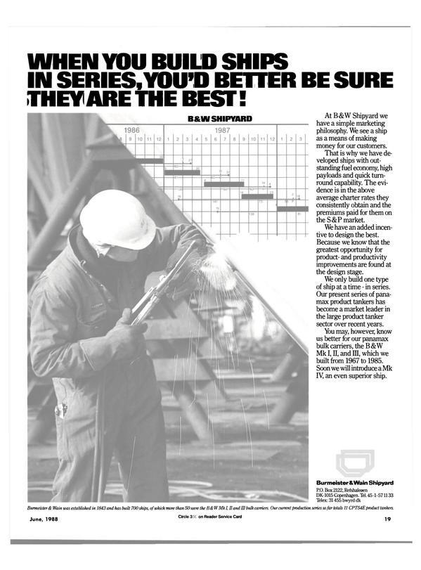 Maritime Reporter Magazine, page 17,  Jun 1988