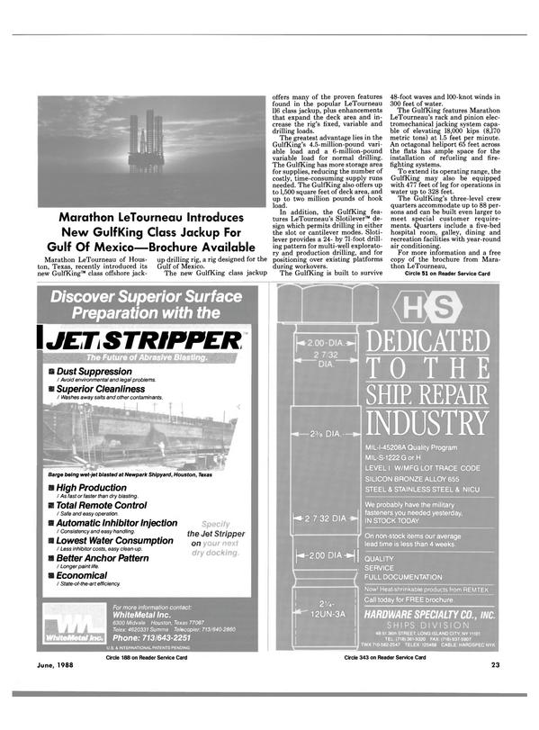 Maritime Reporter Magazine, page 21,  Jun 1988