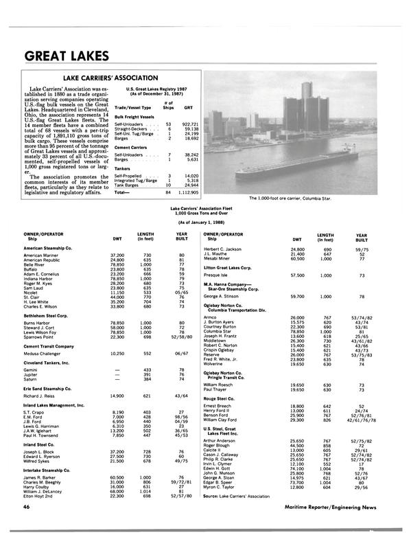 Maritime Reporter Magazine, page 44,  Jun 1988