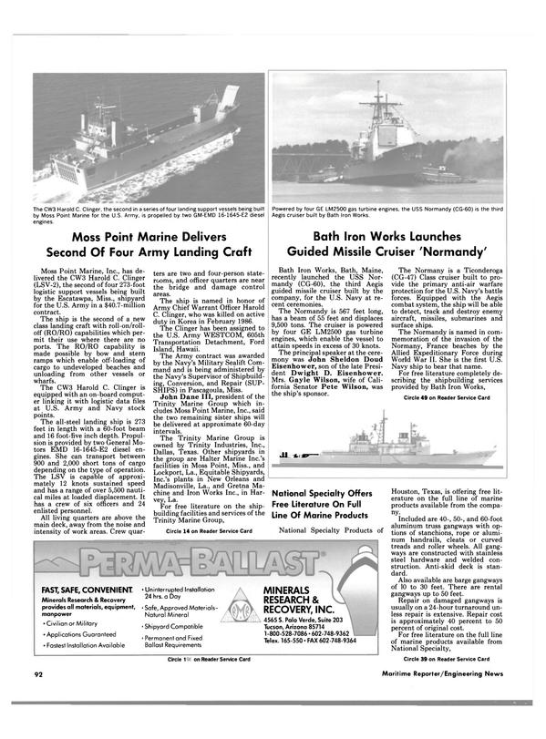Maritime Reporter Magazine, page 86,  Jun 1988