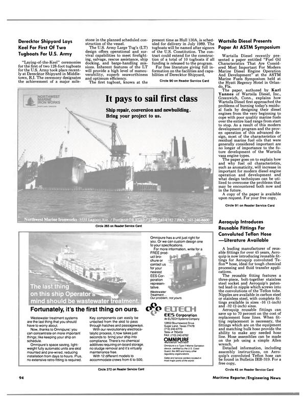 Maritime Reporter Magazine, page 88,  Jun 1988