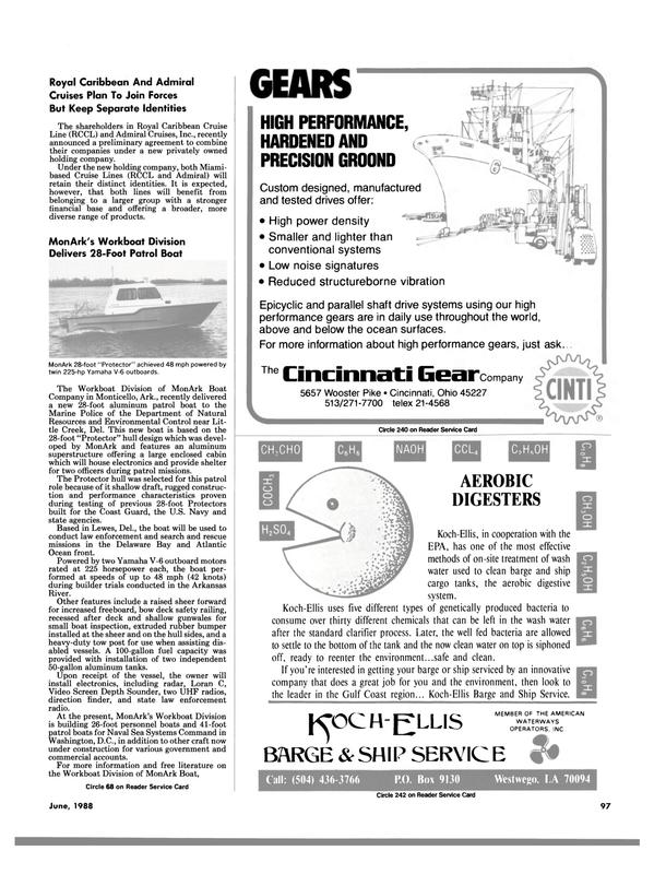 Maritime Reporter Magazine, page 91,  Jun 1988