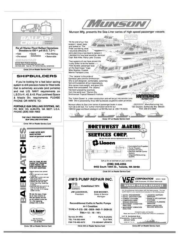 Maritime Reporter Magazine, page 95,  Jun 1988