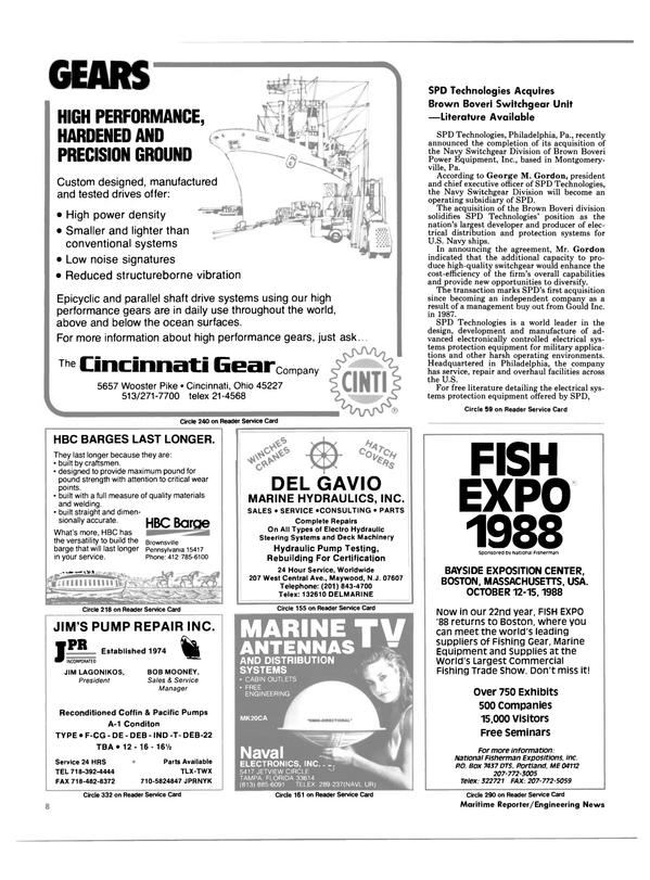 Maritime Reporter Magazine, page 6,  Jul 1988