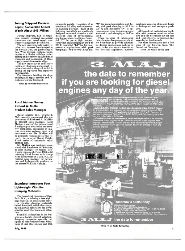 Maritime Reporter Magazine, page 7,  Jul 1988 Fuel Injection