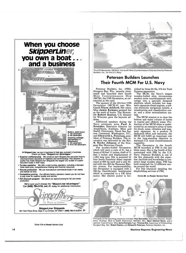 Maritime Reporter Magazine, page 12,  Aug 1988 R. Burke Johnson