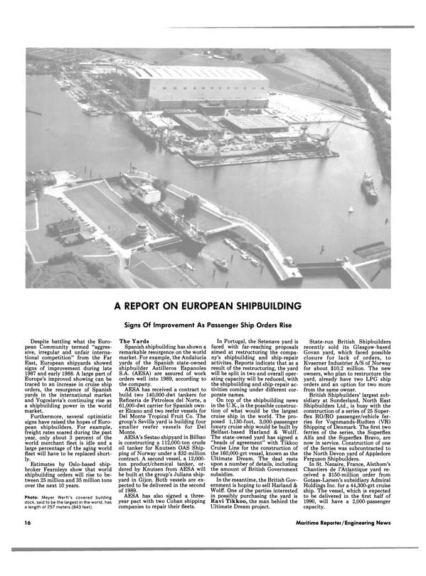 Maritime Reporter Magazine, page 14,  Aug 1988 British Government