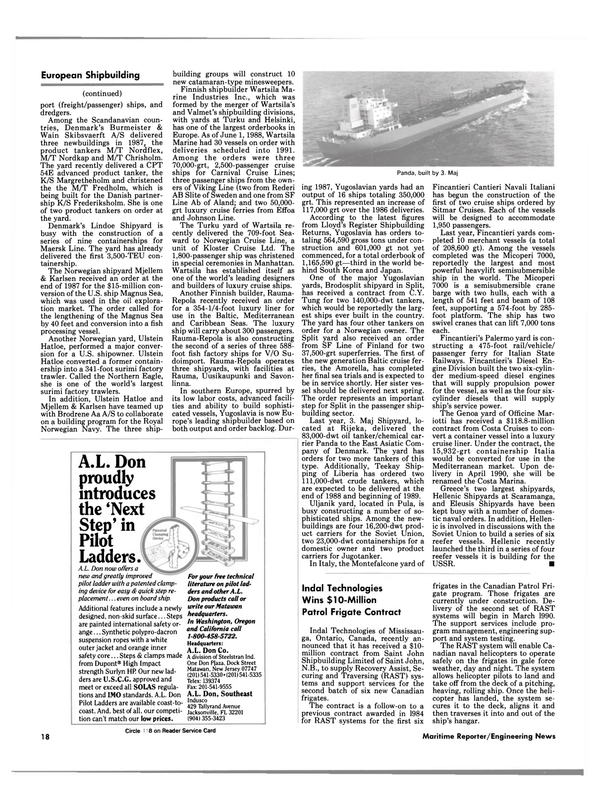 Maritime Reporter Magazine, page 16,  Aug 1988