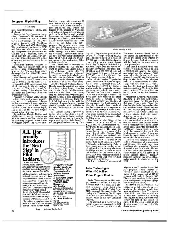 Maritime Reporter Magazine, page 16,  Aug 1988 Washington