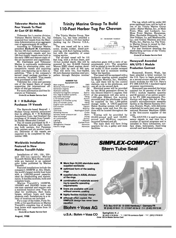 Maritime Reporter Magazine, page 19,  Aug 1988 Carlisle-Finch Refrigerator