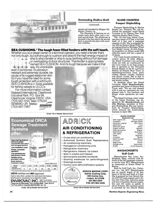 Maritime Reporter Magazine, page 22,  Aug 1988 Florida