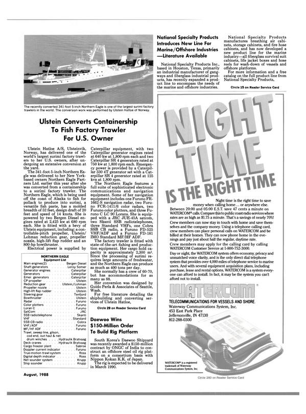 Maritime Reporter Magazine, page 27,  Aug 1988
