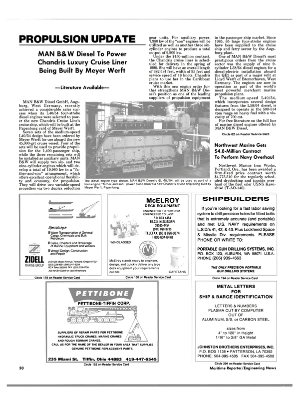 Maritime Reporter Magazine, page 28,  Aug 1988 Washington