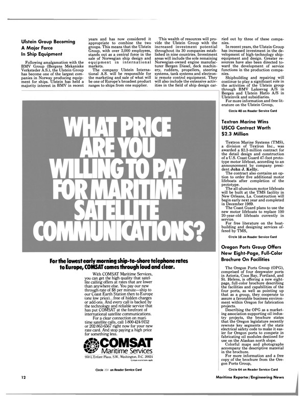 Maritime Reporter Magazine, page 10,  Sep 1988