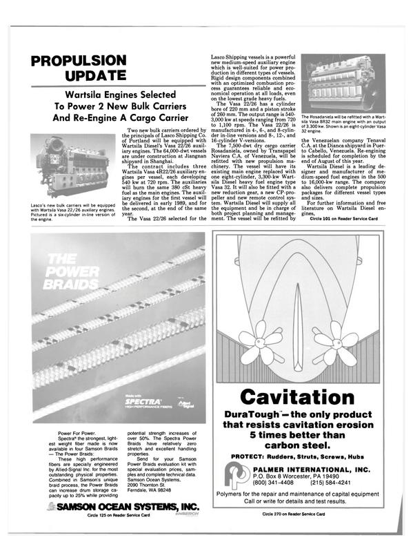 Maritime Reporter Magazine, page 12,  Sep 1988 Braids