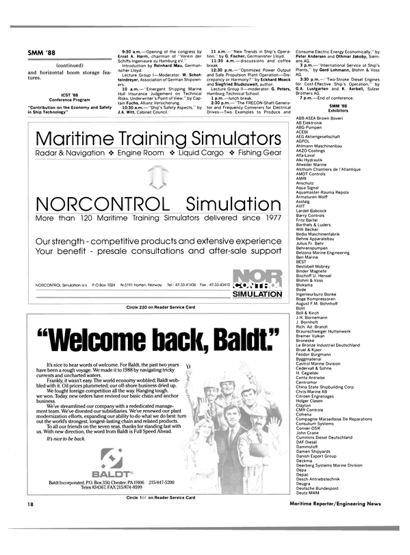 Maritime Reporter Magazine, page 16,  Sep 1988