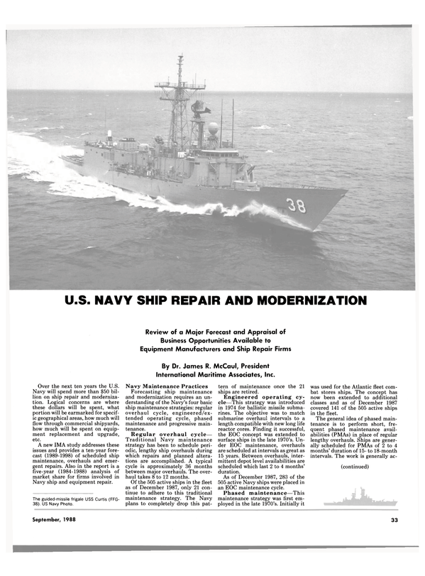 Maritime Reporter Magazine, page 27,  Sep 1988 United States