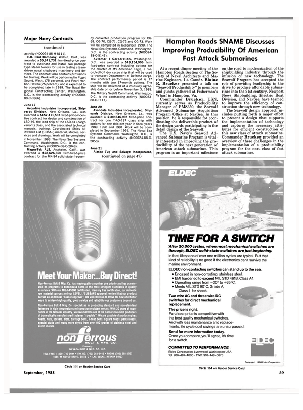 Maritime Reporter Magazine, page 33,  Sep 1988 Nevada