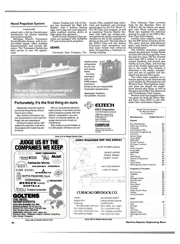 Maritime Reporter Magazine, page 40,  Sep 1988 Michigan