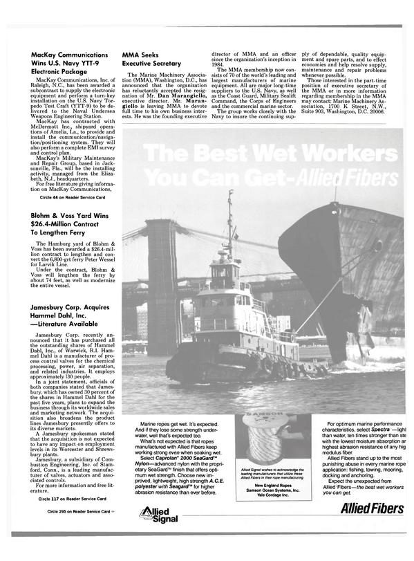 Maritime Reporter Magazine, page 49,  Sep 1988 North Carolina