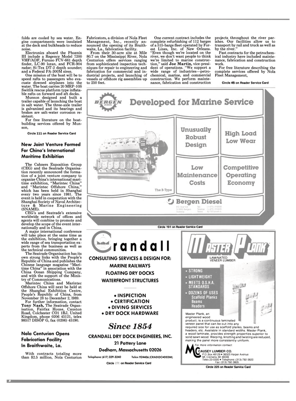 Maritime Reporter Magazine, page 57,  Sep 1988