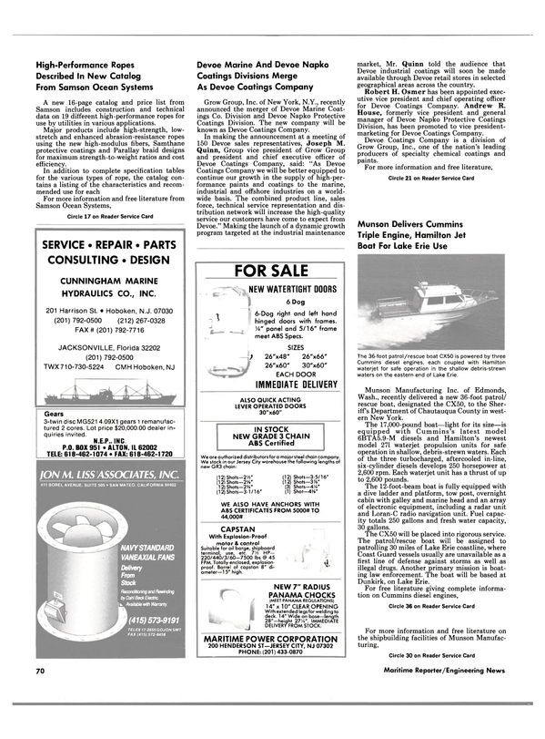 Maritime Reporter Magazine, page 60,  Sep 1988