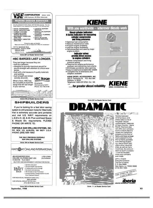 Maritime Reporter Magazine, page 71,  Sep 1988