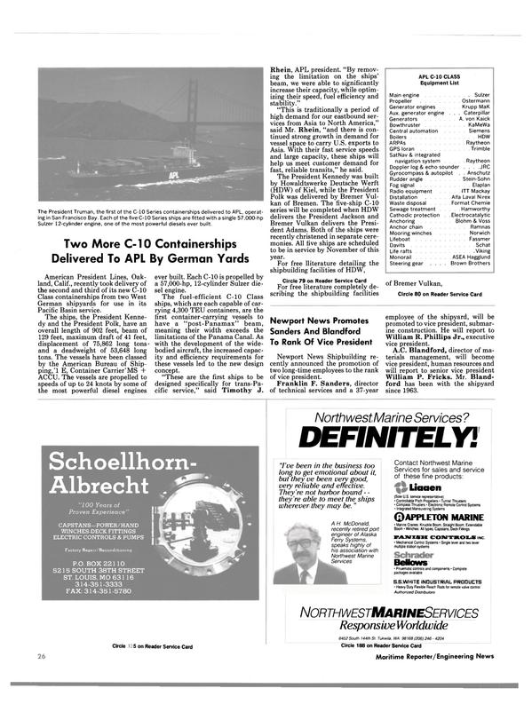 Maritime Reporter Magazine, page 37,  Oct 1988 California