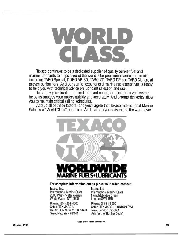 Maritime Reporter Magazine, page 40,  Oct 1988