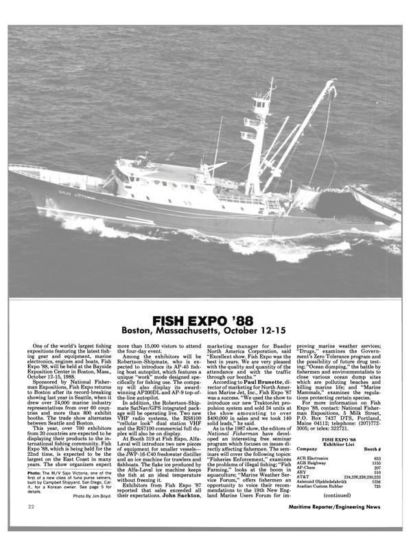 Maritime Reporter Magazine, page 41,  Oct 1988