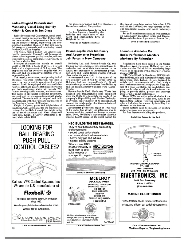 Maritime Reporter Magazine, page 46,  Oct 1988 Mississippi