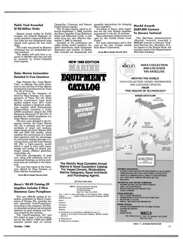 Maritime Reporter Magazine, page 47,  Oct 1988