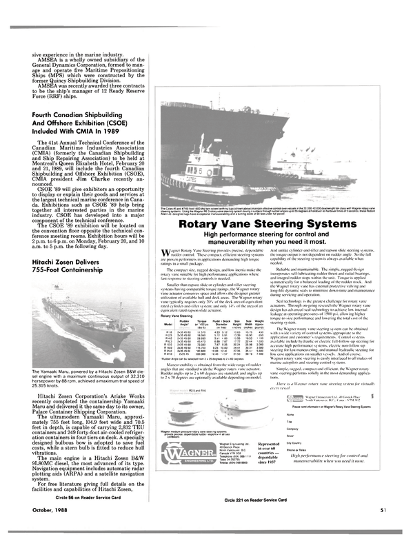 Maritime Reporter Magazine, page 49,  Oct 1988