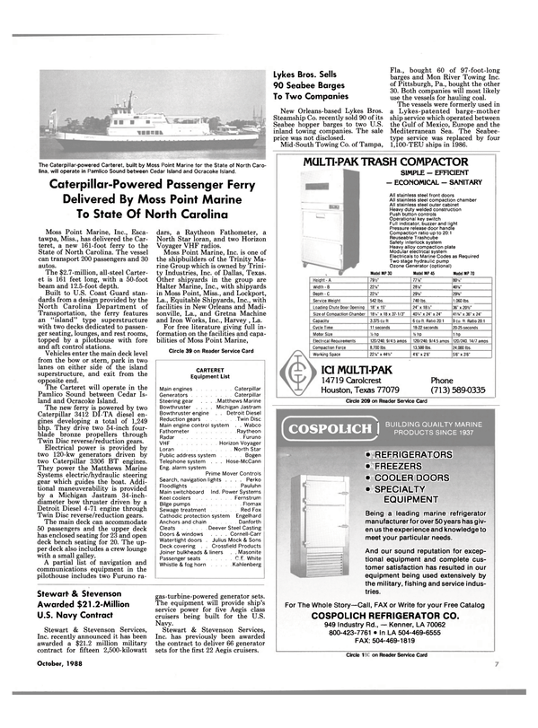 Maritime Reporter Magazine, page 5,  Oct 1988 Florida
