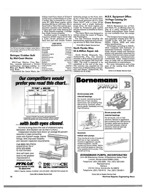 Maritime Reporter Magazine, page 8,  Nov 1988