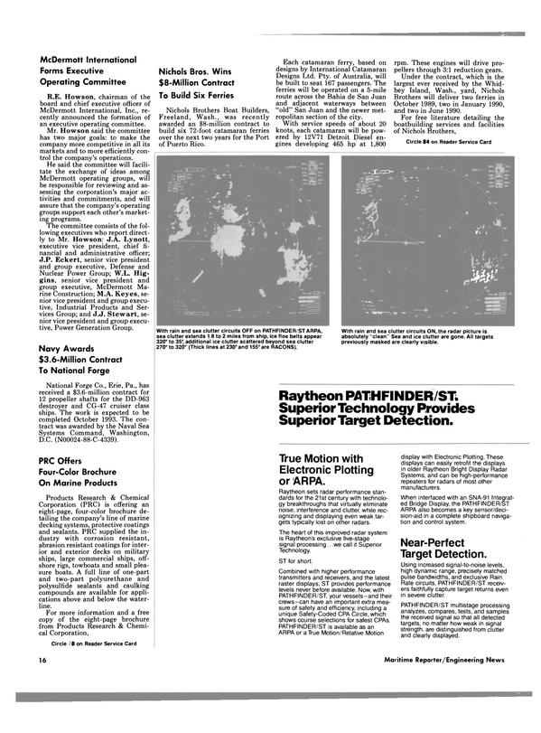 Maritime Reporter Magazine, page 14,  Nov 1988