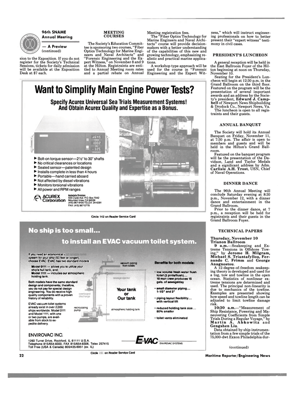 Maritime Reporter Magazine, page 20,  Nov 1988 Virginia