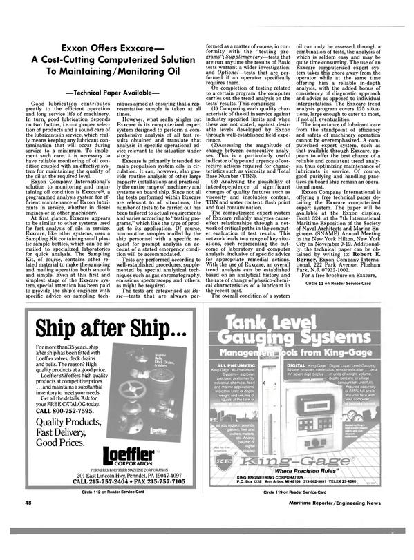 Maritime Reporter Magazine, page 46,  Nov 1988