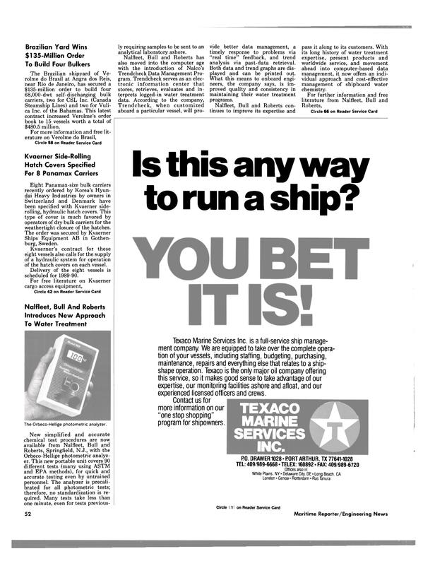Maritime Reporter Magazine, page 50,  Nov 1988