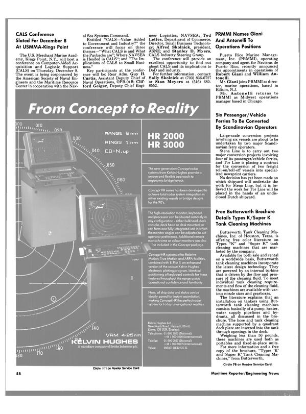 Maritime Reporter Magazine, page 56,  Nov 1988 New York