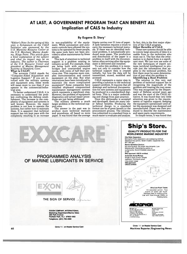 Maritime Reporter Magazine, page 58,  Nov 1988 Eugene D. Story