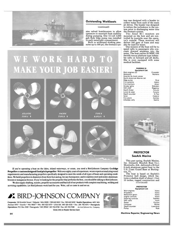 Maritime Reporter Magazine, page 62,  Nov 1988 Base