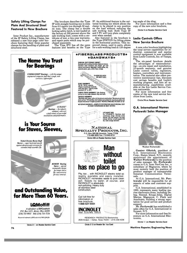 Maritime Reporter Magazine, page 74,  Nov 1988