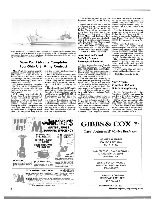 Maritime Reporter Magazine, page 6,  Nov 1988 Louisiana