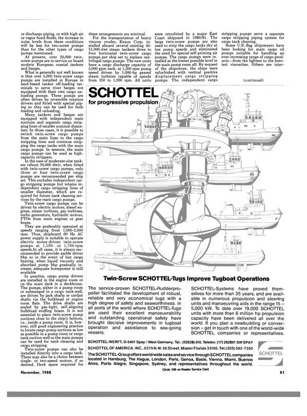 Maritime Reporter Magazine, page 79,  Nov 1988
