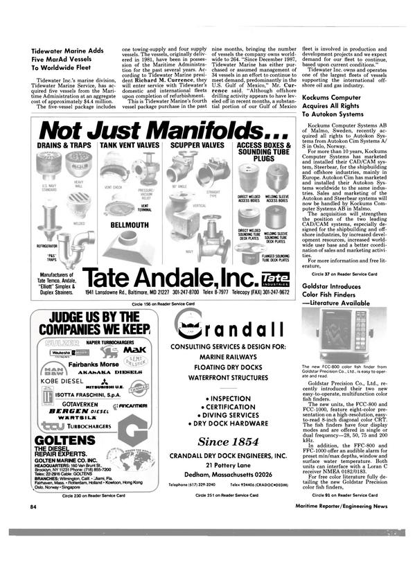 Maritime Reporter Magazine, page 82,  Nov 1988 Massachusetts