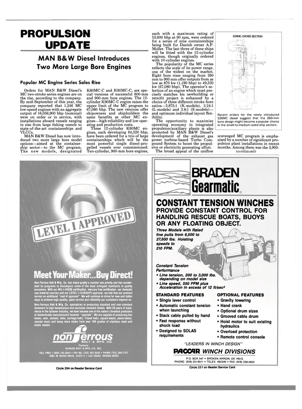 Maritime Reporter Magazine, page 83,  Nov 1988 exhaust gas power