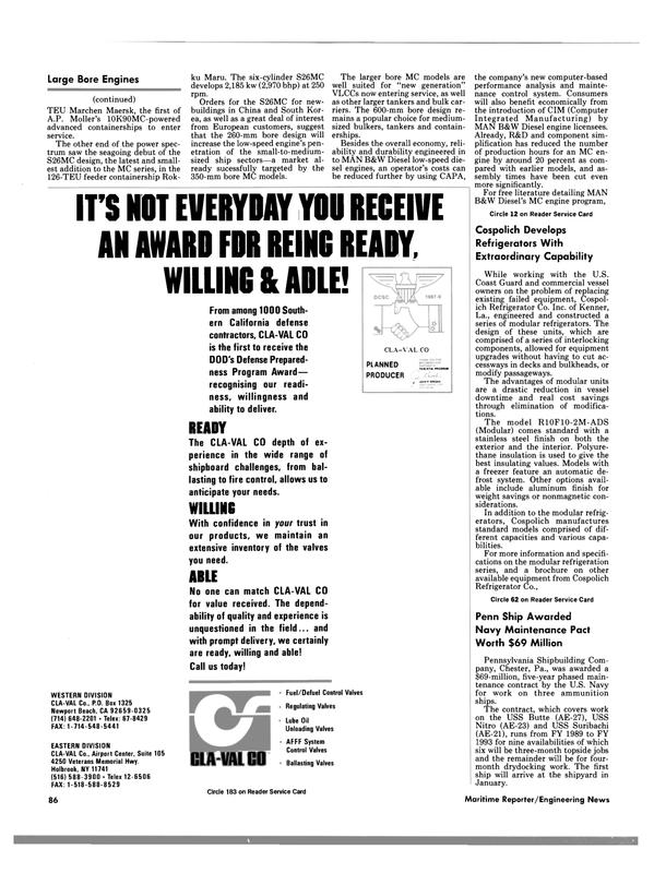 Maritime Reporter Magazine, page 84,  Nov 1988