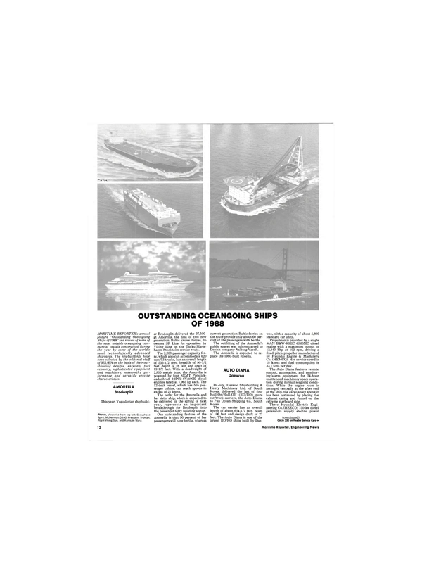 Maritime Reporter Magazine, page 8,  Dec 1988 unattended machinery space opera